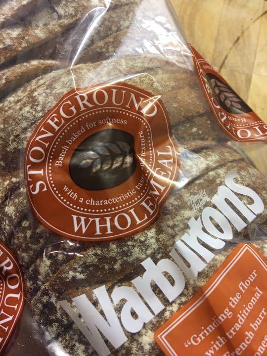 Warburtons stoneground wholemeal X 3
