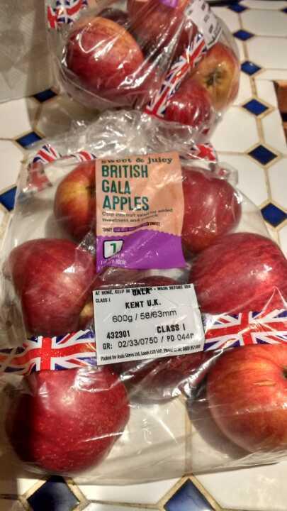 British gala apples
