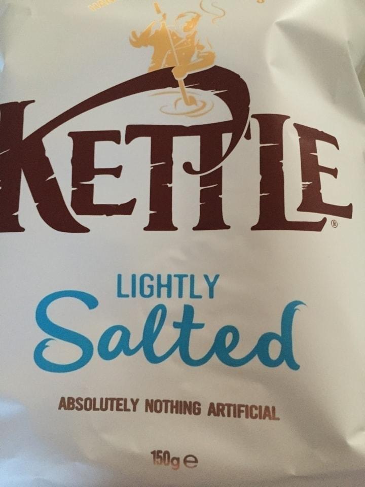 1x Large bag lightly salted kettle crisps