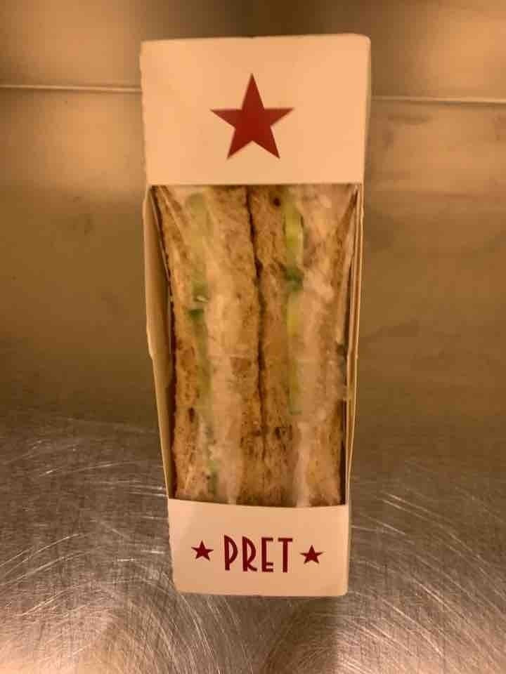Tuna and cucumber sandwich from pret