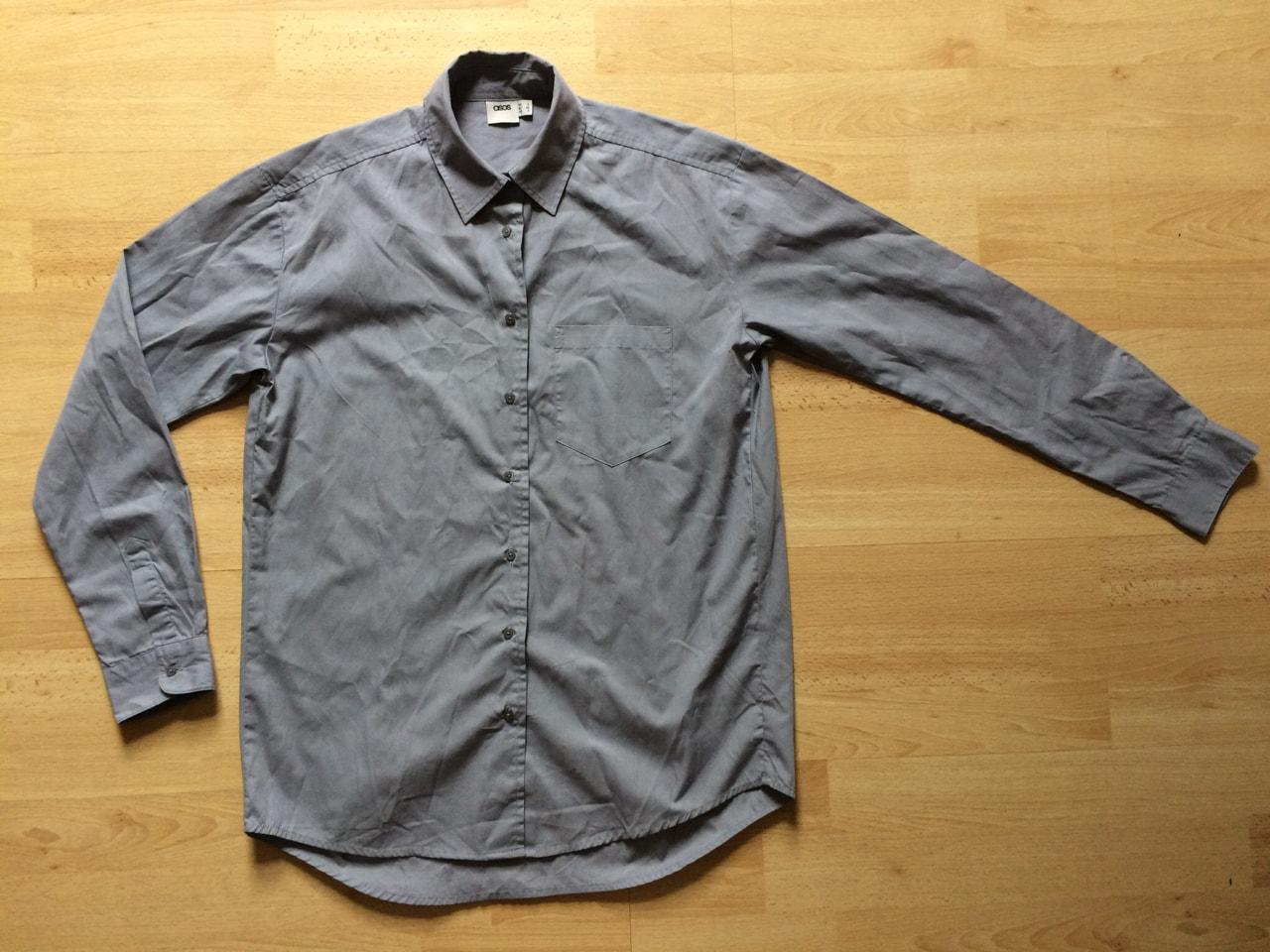 ASOS women's grey oversized shirt size 4