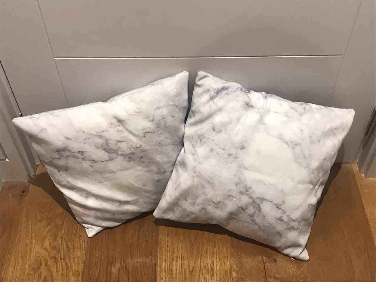 Marble-Effect Cushions x2