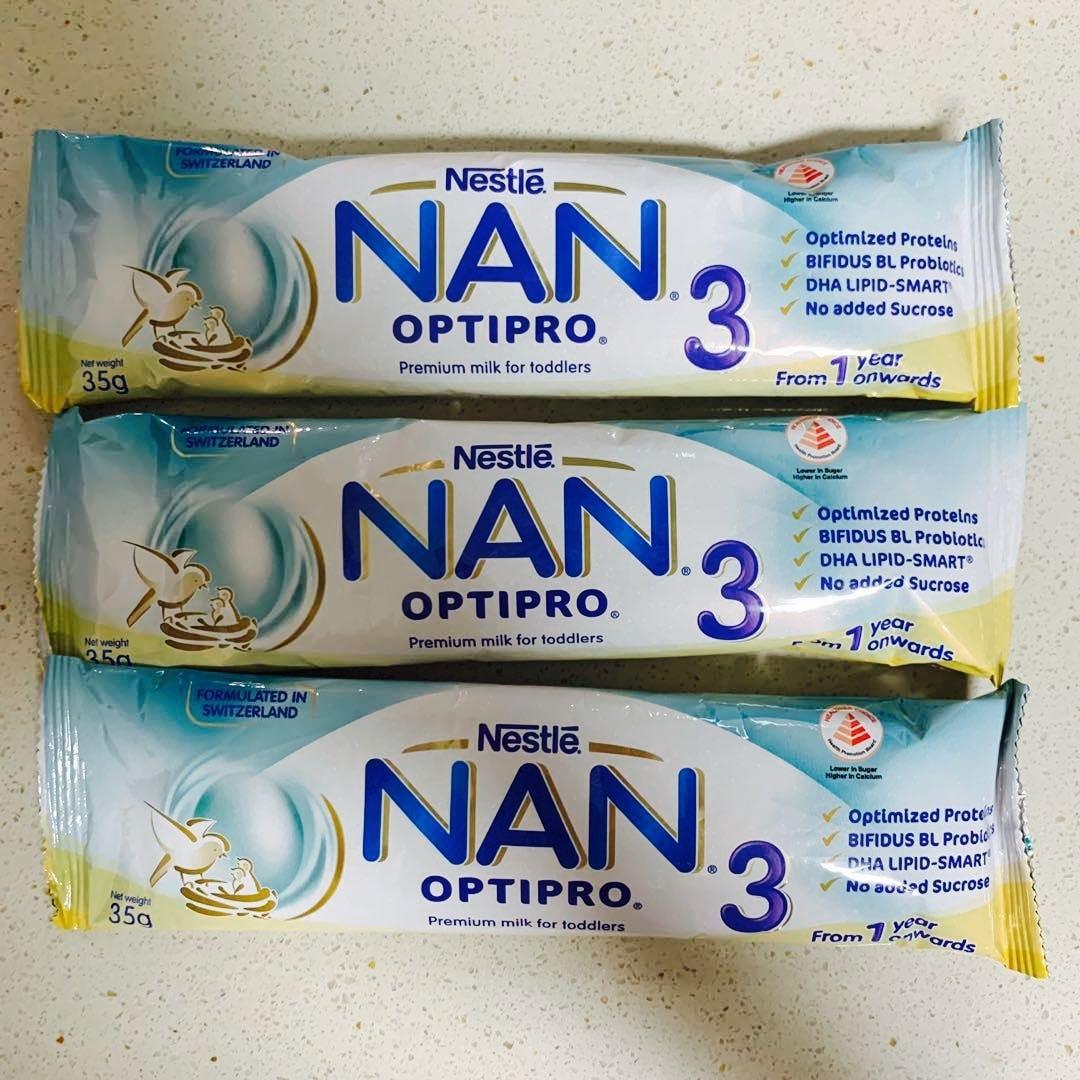 25 pkts of NAN Optipro 3 Sample
