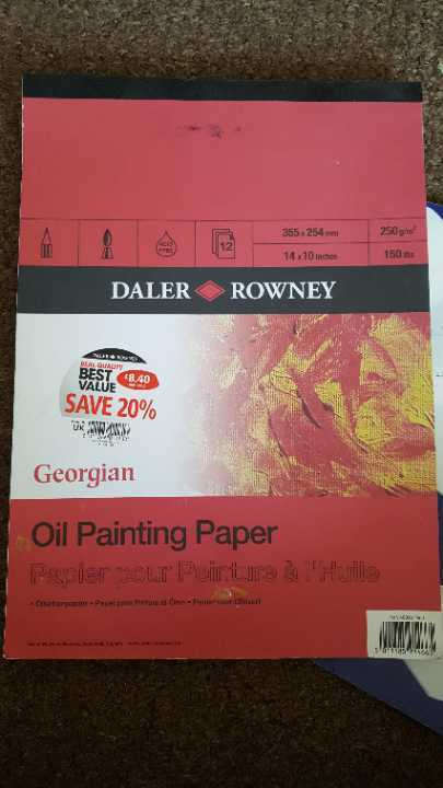 Dale rowney  oil painting paper