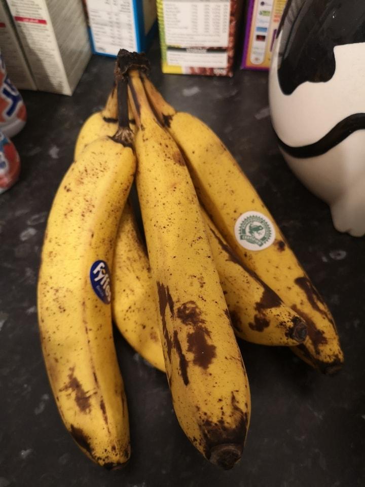 5 over ripe bananas
