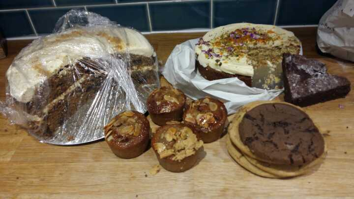 Lots of cake from bakery pick up