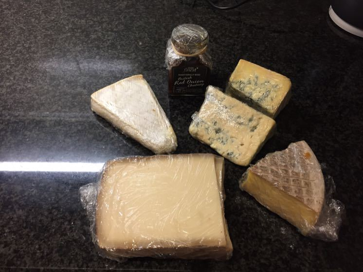 Gourmet Cheese and Chutney - mostly untouched!