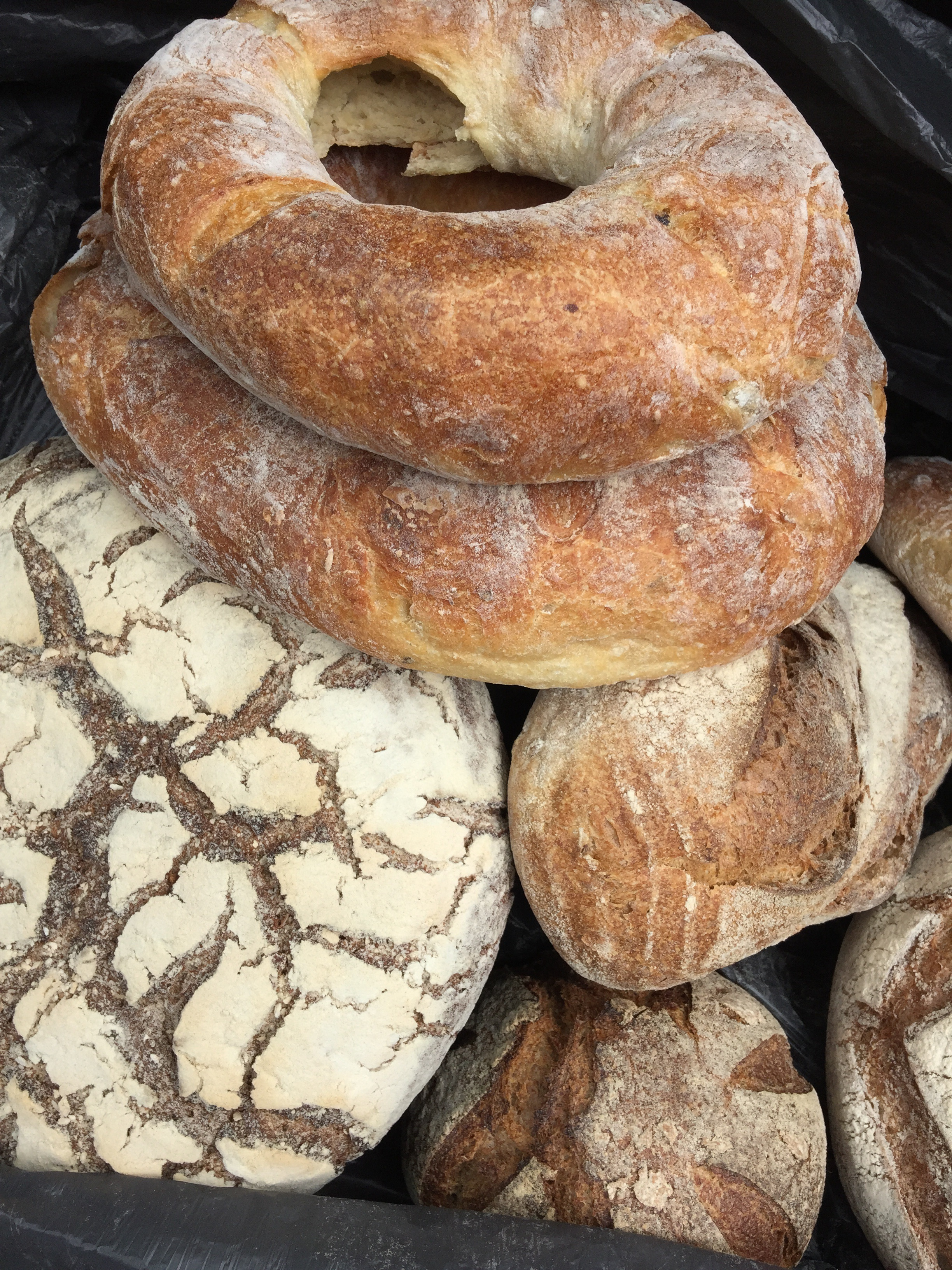Artisan bread, fresh from Parliament Hill farmers market