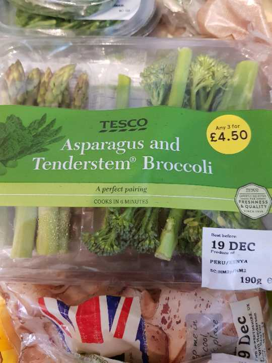 Asparagus and broccoli pack