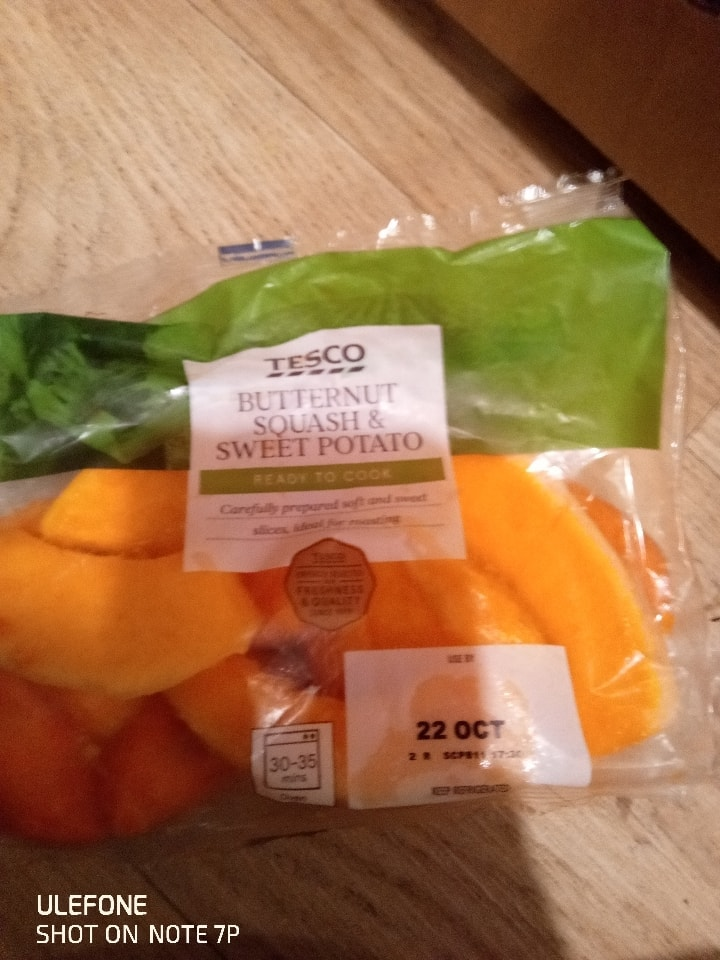 Butternut squash and sweet potaoe