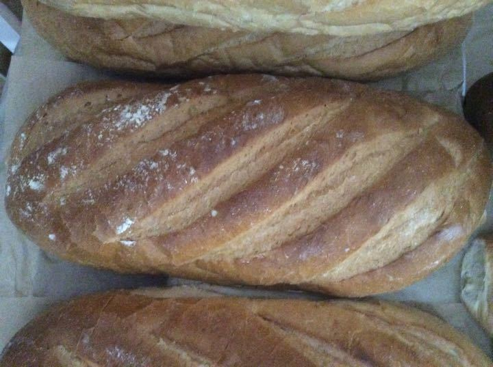 Large fresh bread