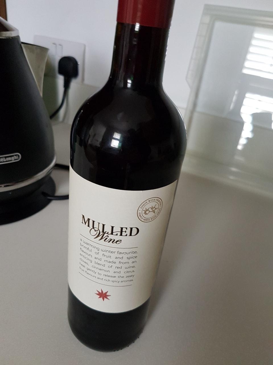 Bottle of mulled wine