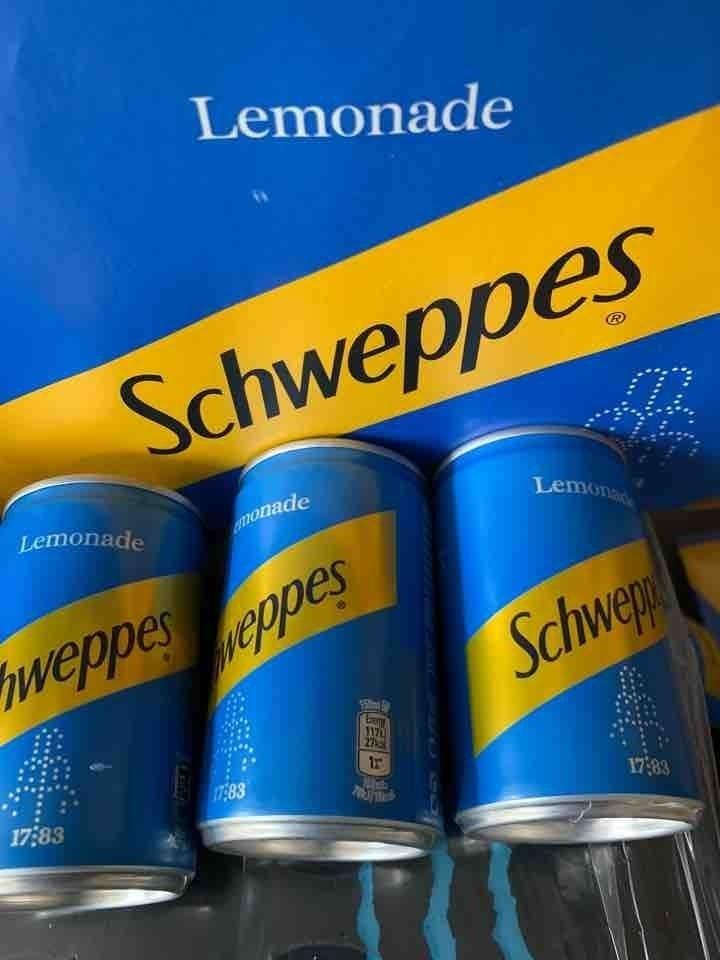 Lemonade 150ml cans 3 cans per person please