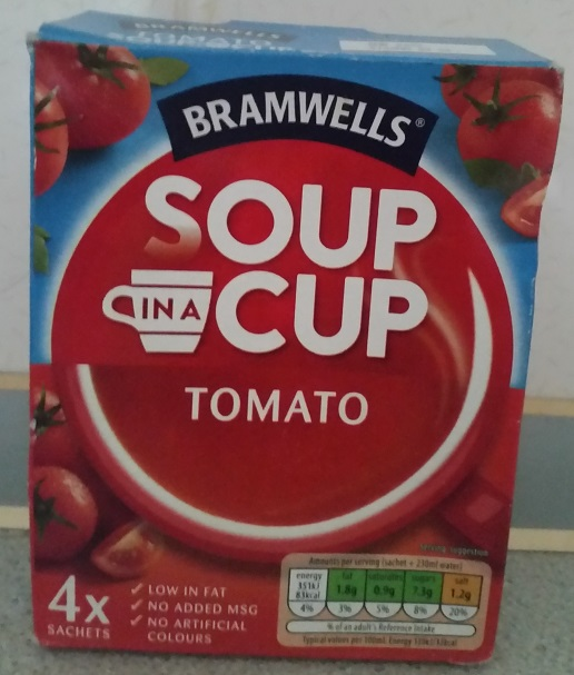 Tomato soup in a cup