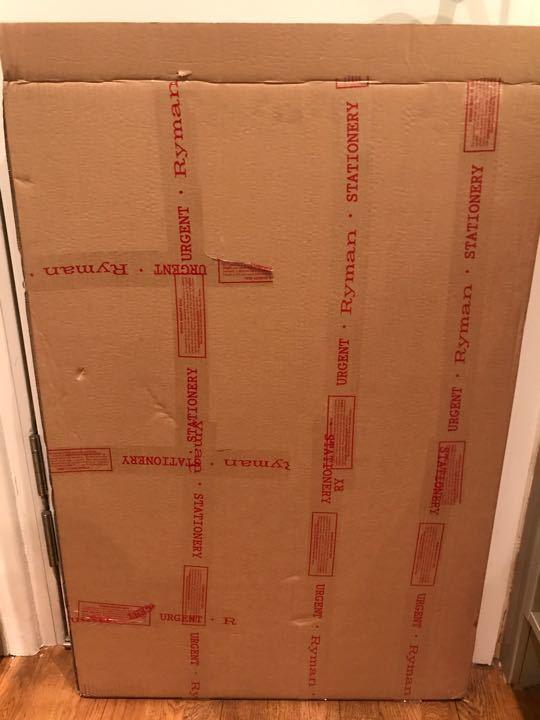 Large cardboard box
