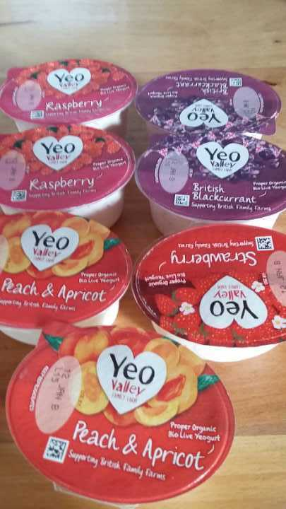 7 YeoValley fruit yoghurts to give away. Use by 12th January