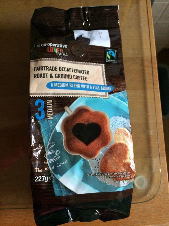 FairTrade decaf ground coffee