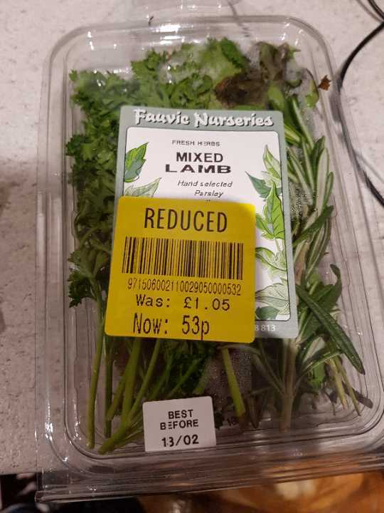 Mixed lamb herbs