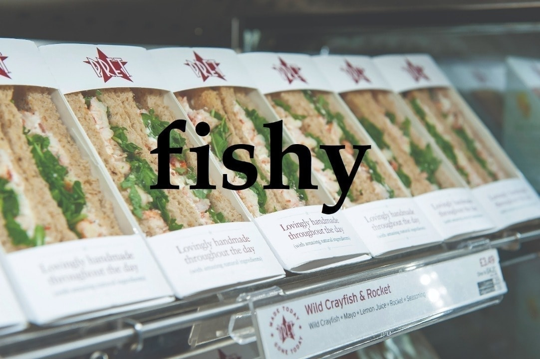 Pret fishy sandwiches from Saturday night collection