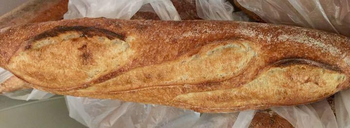Artisan semi-sourdough baguette