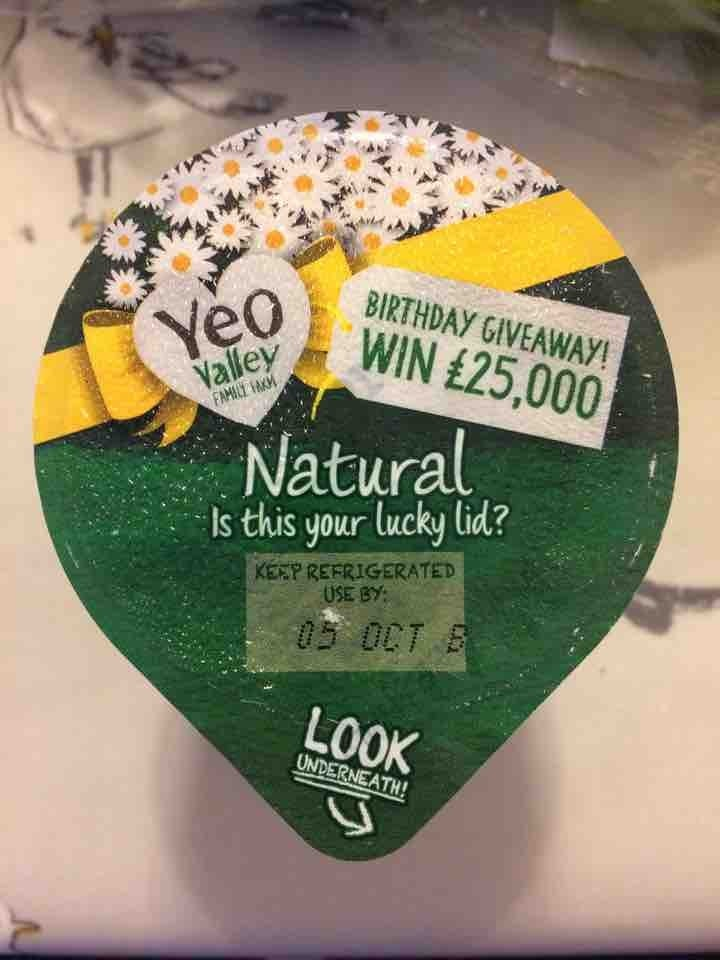 Yeo valley natural yoghurt small tub