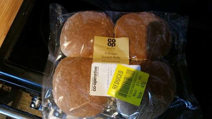 4 co-op brown scotch rolls