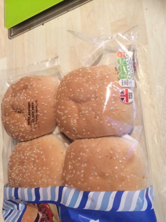 6 burger buns