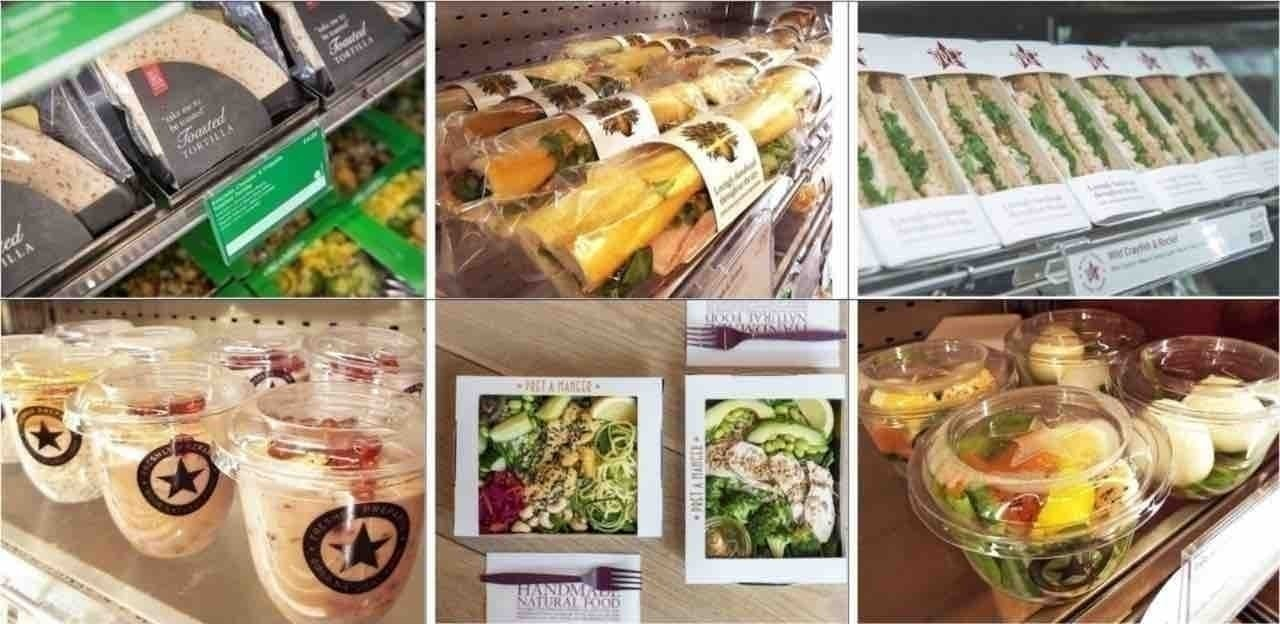 Vegetarian baguettes from Pret - Wednesday