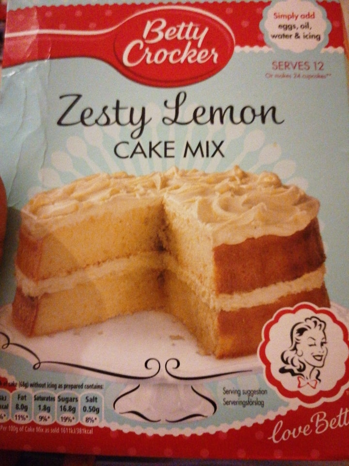 Betty crocker lemon cake mix