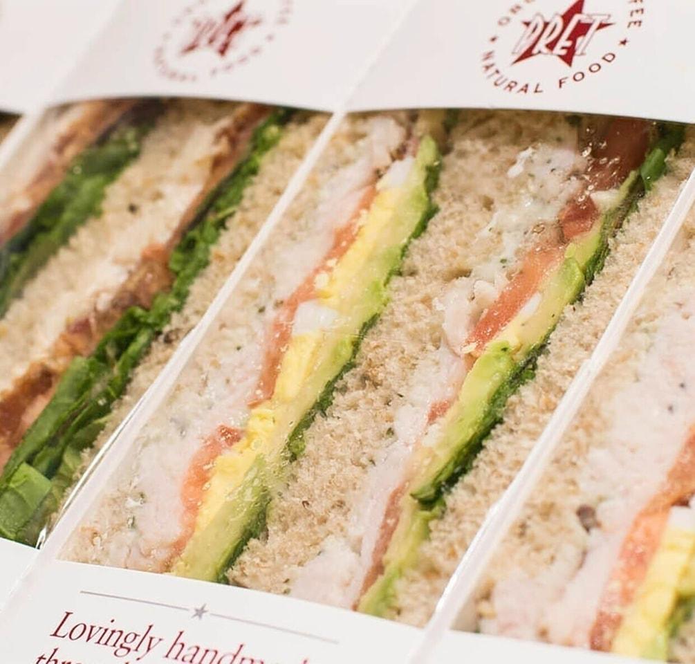 Pret Surplus sandwiches