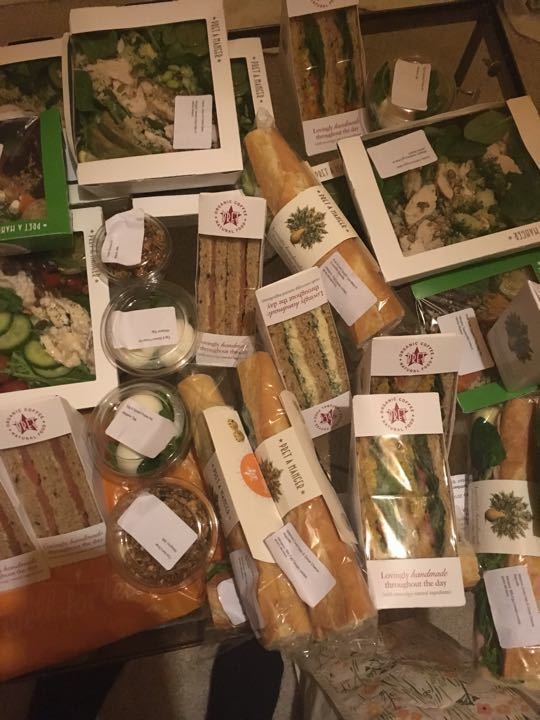 free fresh food from pret