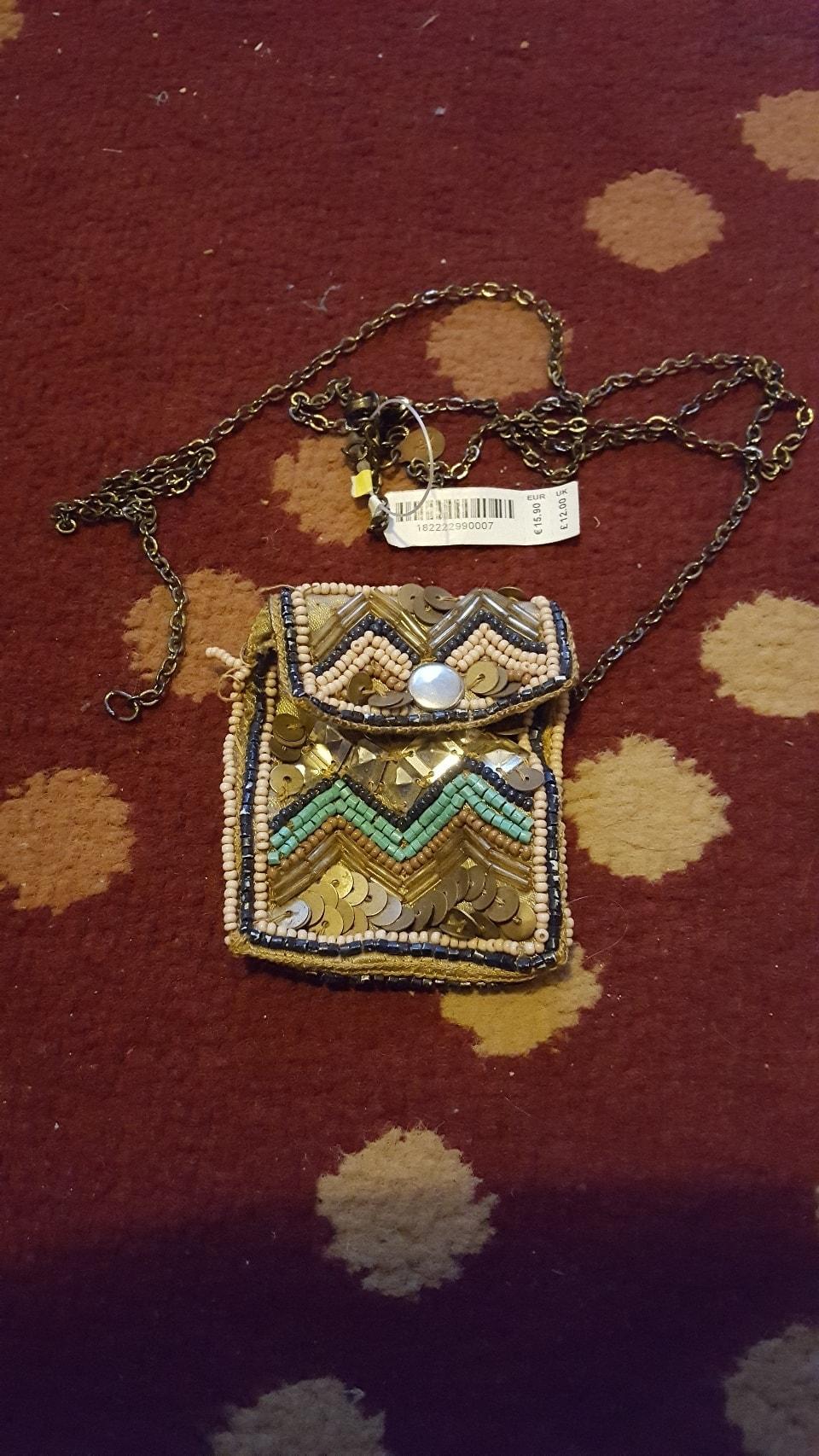 Jewelled necklace purse