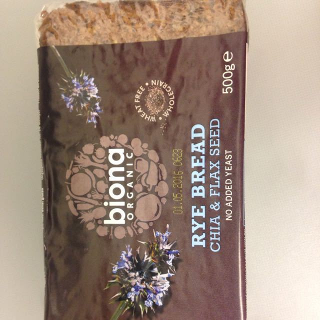 Biona rye bread with chia and flax seeD