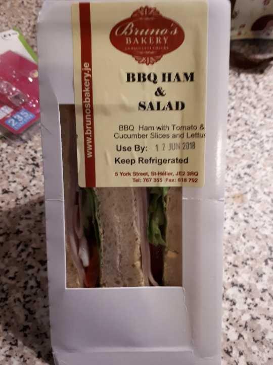 BBC ham salad sandwich