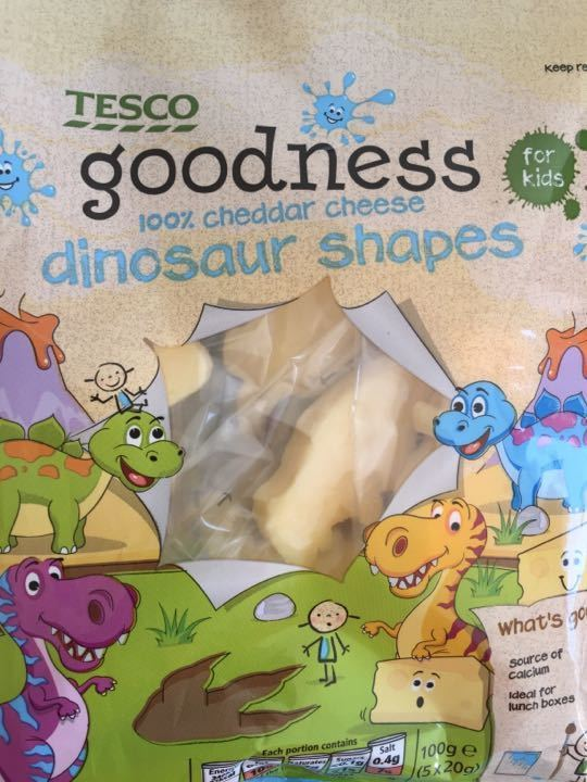 Dinosaur cheese shapes - 6 full bags