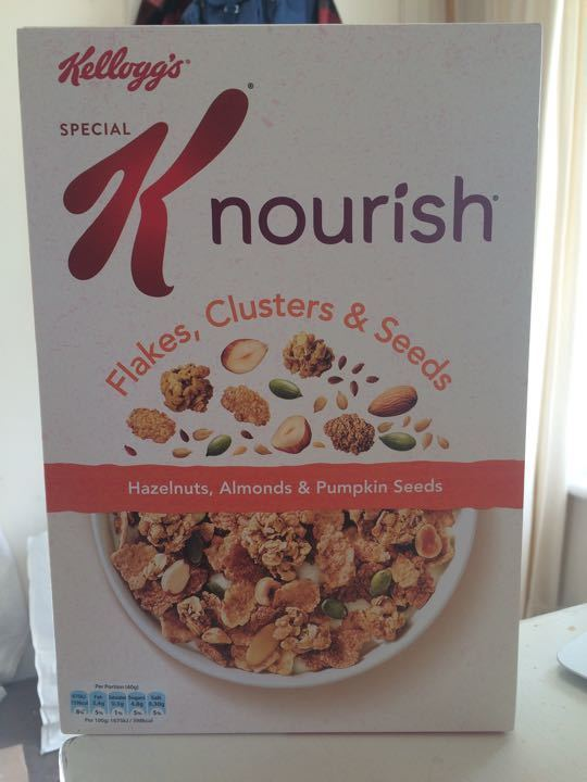 1 x unopened box Special K cereal (+1/2 opened box)