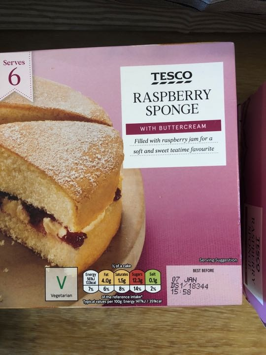 Raspberry sponge