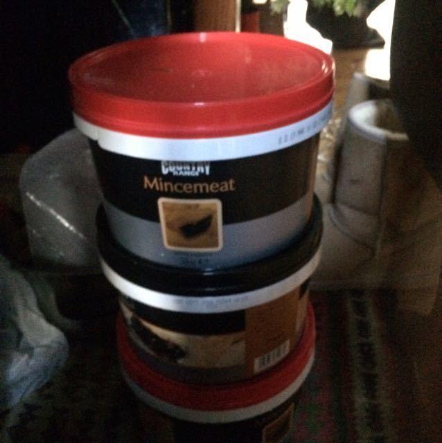 3 X 3.5 kg tubs mincemeat