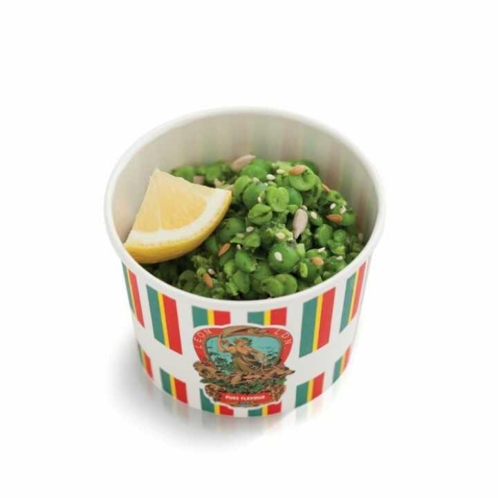 Crushed pea salad (Vegan)