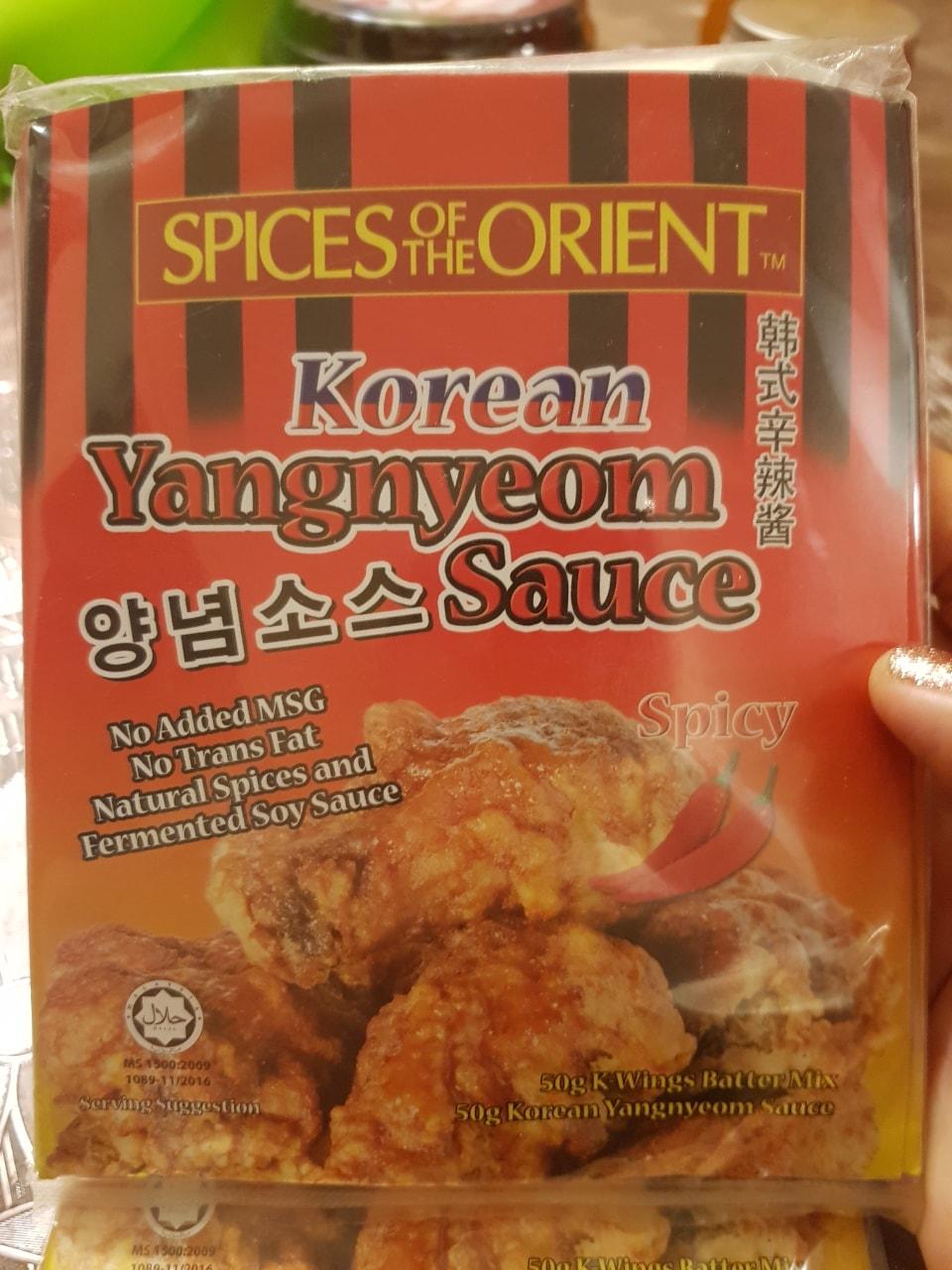 Spicy fried chicken marinate Korean