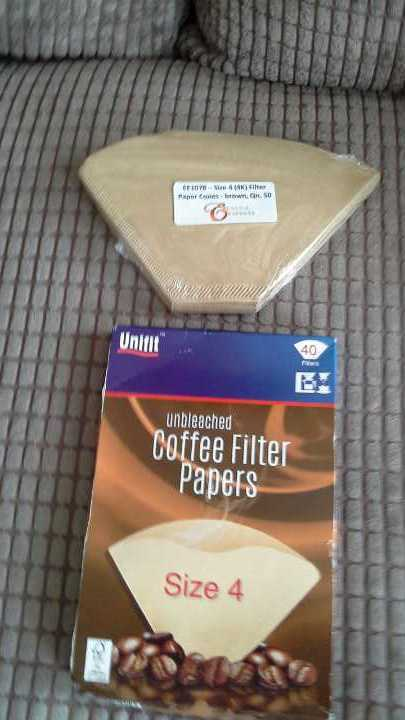 Coffee filter papers size 4