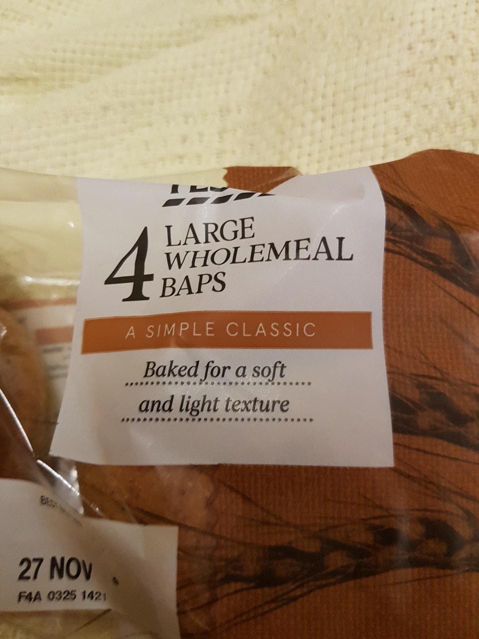 4 brown rolls