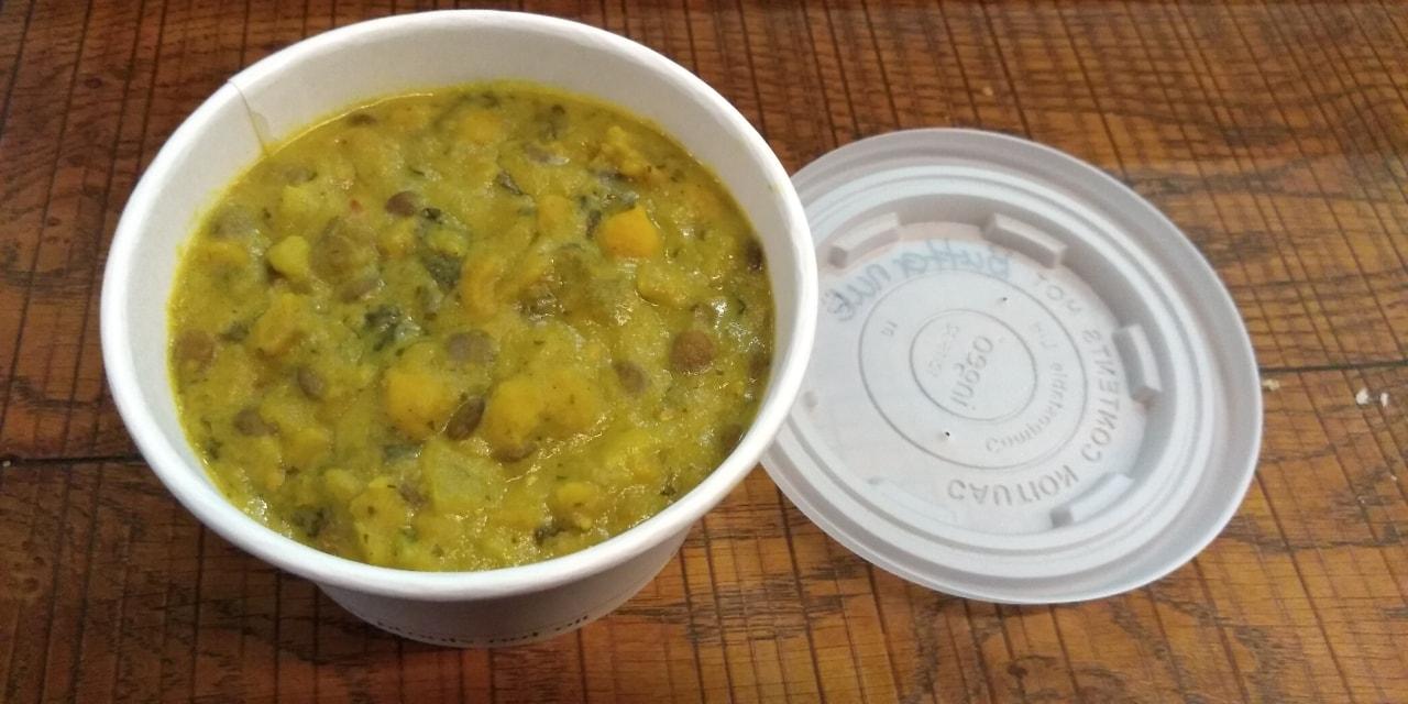 Butternut squash and lentil soup