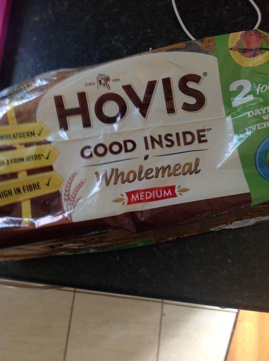 Wholemeal bread sliced X2