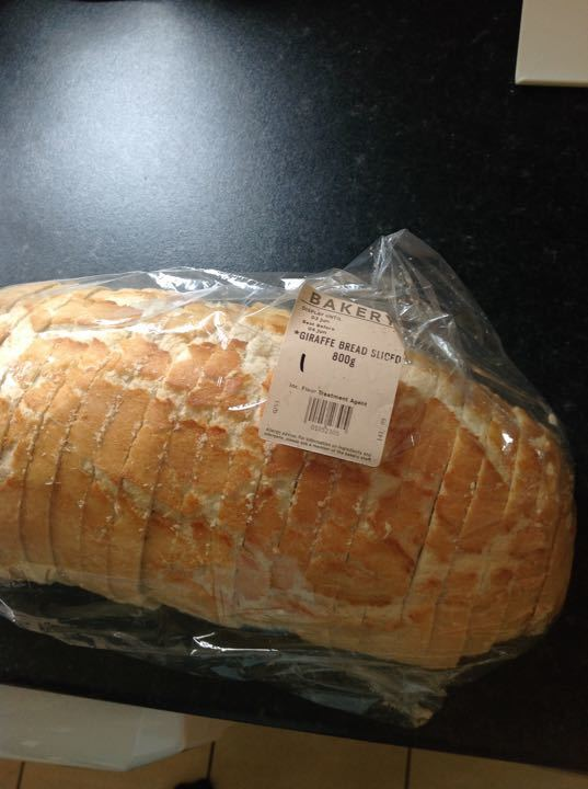 Giraffe bread sliced 800g
