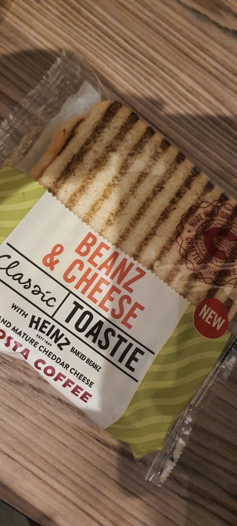 costa cheese and bean toasties