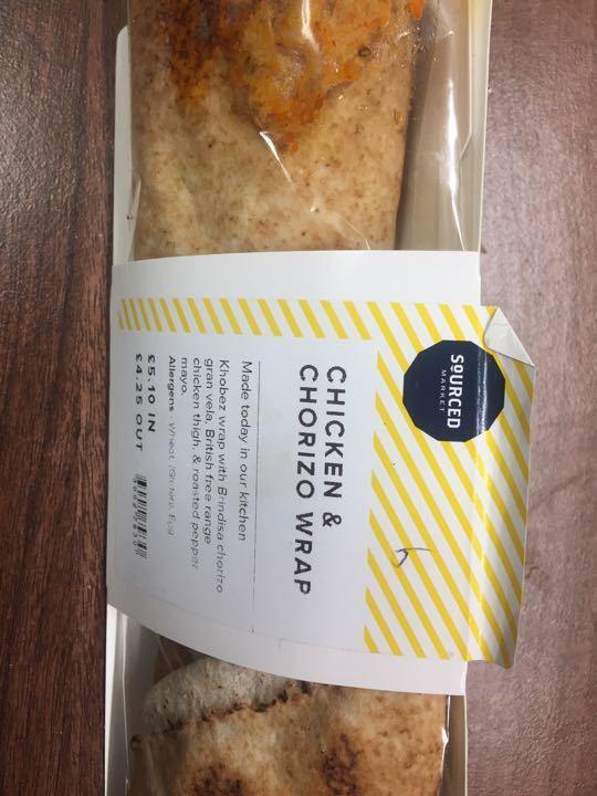 Chicken & chorizo wrap