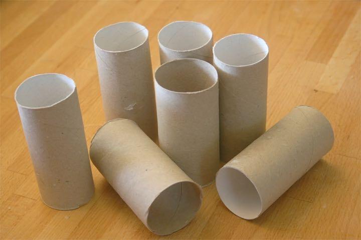 Empty toilet roll paper