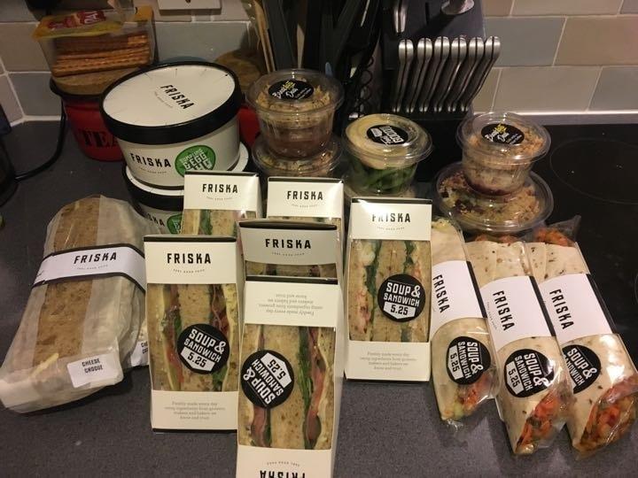 Friska surplus food available Wednesday 6pm @M1