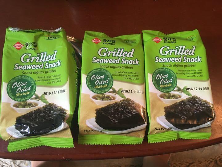 Chongga grilled seaweed snack 3 packs